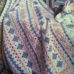 naptime granny crocheted baby blank..