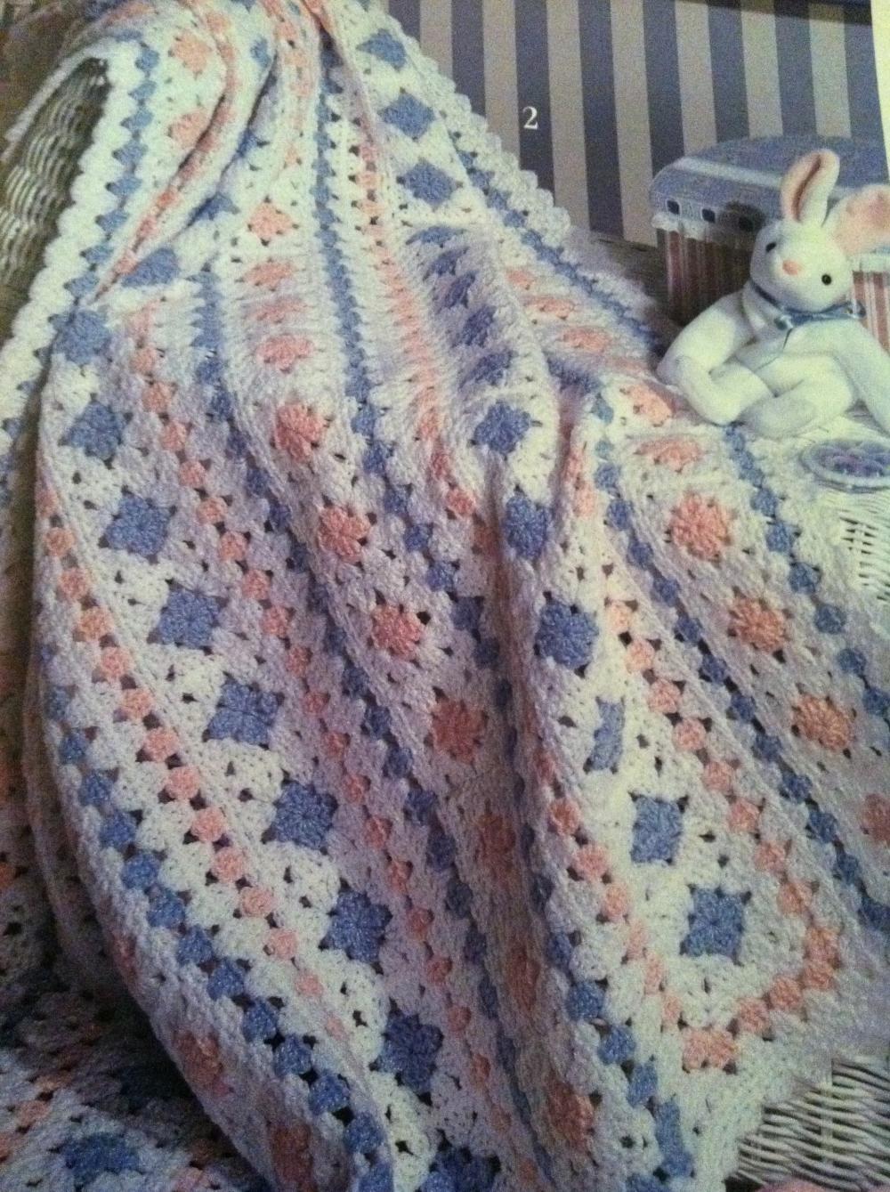 naptime granny crocheted baby blanket